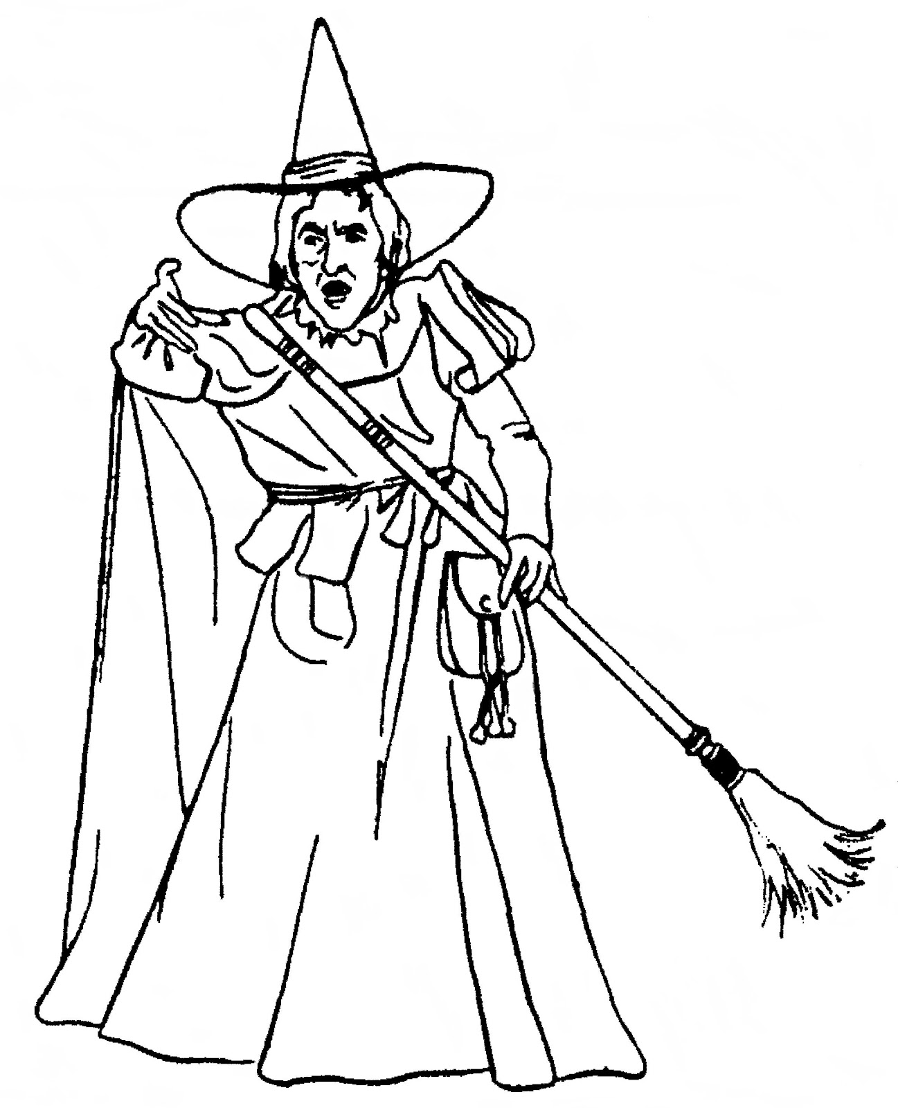 1297x1600 Witch Coloring Pages