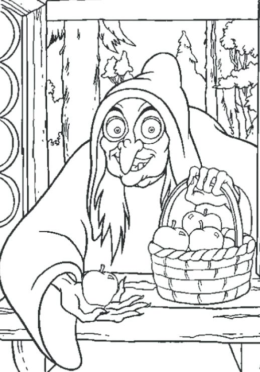 Evil Witch Coloring Pages At Getdrawings Com Free For Personal Use