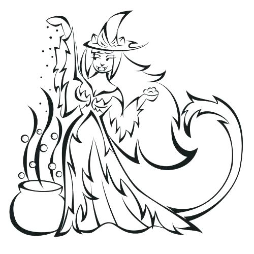 500x500 Witches Coloring Pages Witches Coloring Pages Owl Witch Coloring