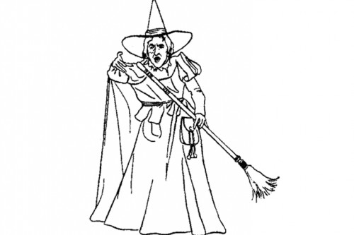 500x333 Wizard Of Oz Coloring Pages Wicked Witch