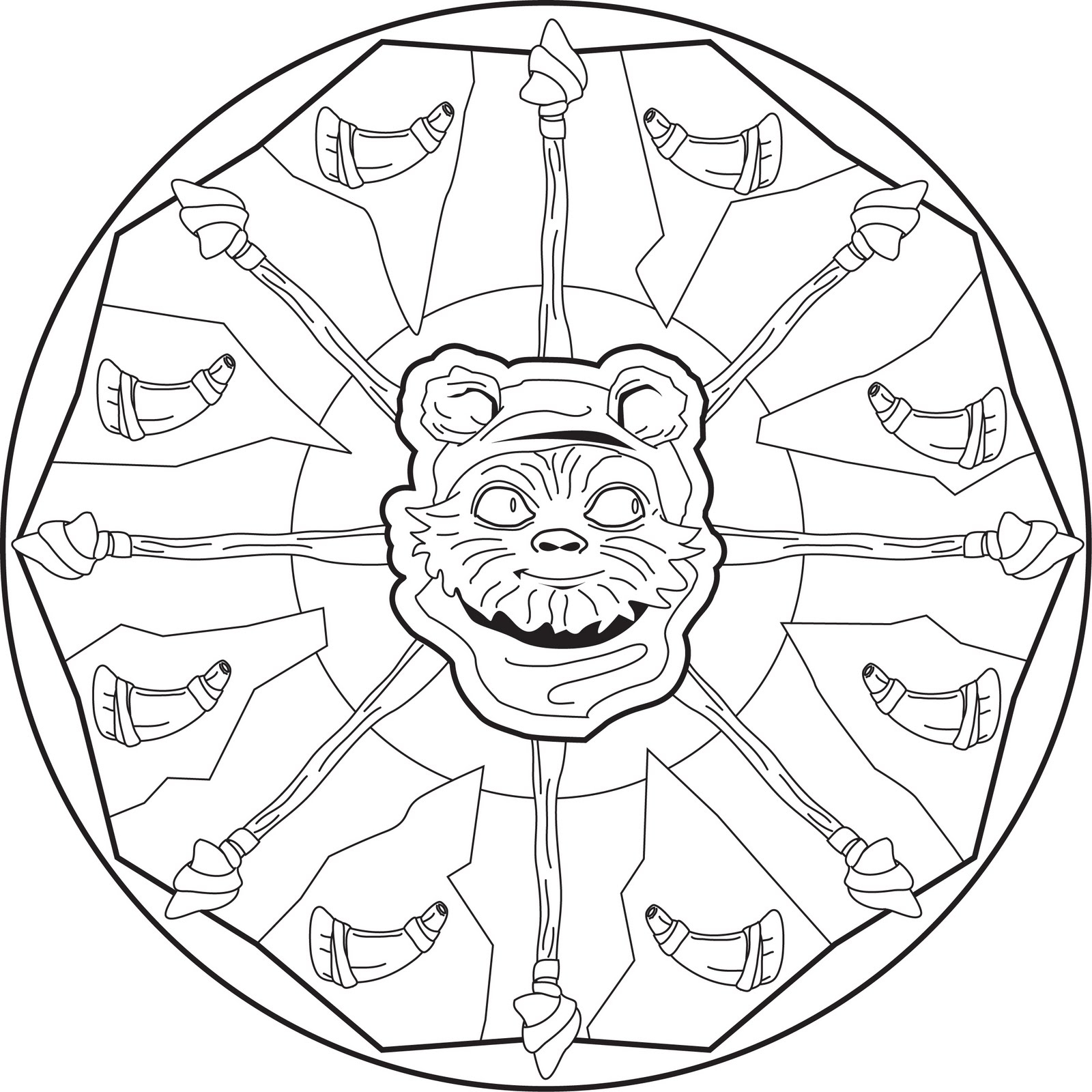1600x1600 Ewok Coloring Page Leversetdujourfo Collection