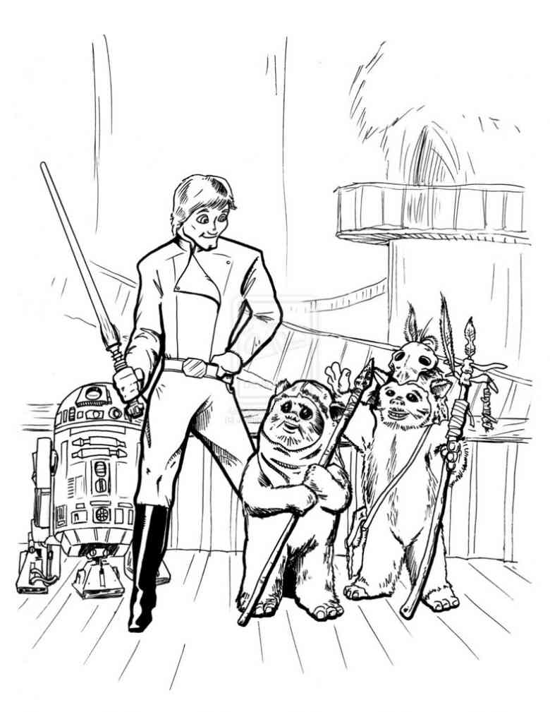 780x1009 Ewok Coloring Pages