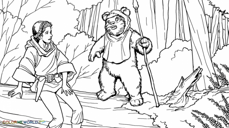 799x449 Ewok Coloring Pages Ewok Coloring Pages For Ewok Coloring Page