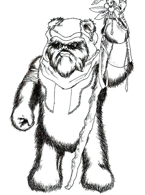 477x640 Ewok Coloring Pages Printable Free Ewok Coloring Pages
