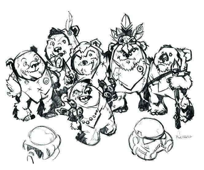 665x555 Ewok Coloring Pages Star Wars Coloring Books For Sale Star Wars