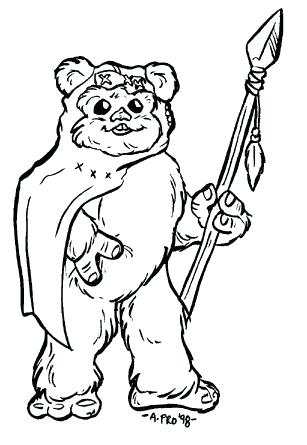 307x445 Ewok Coloring Pages Star Wars Drawings Google Search Free Ewok