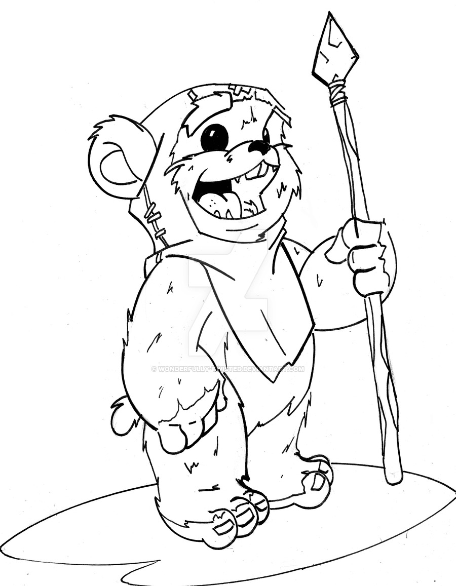 900x1157 Ewok Coloring Pages To Print Coloring For Kids