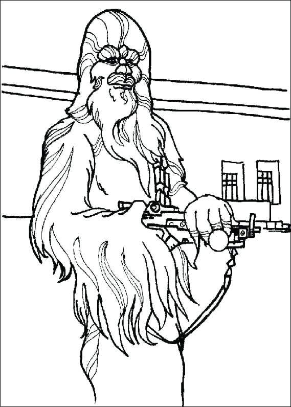 569x796 Ewok Village Coloring Pages Star Wars Chewbacca Coloring Page Ewok