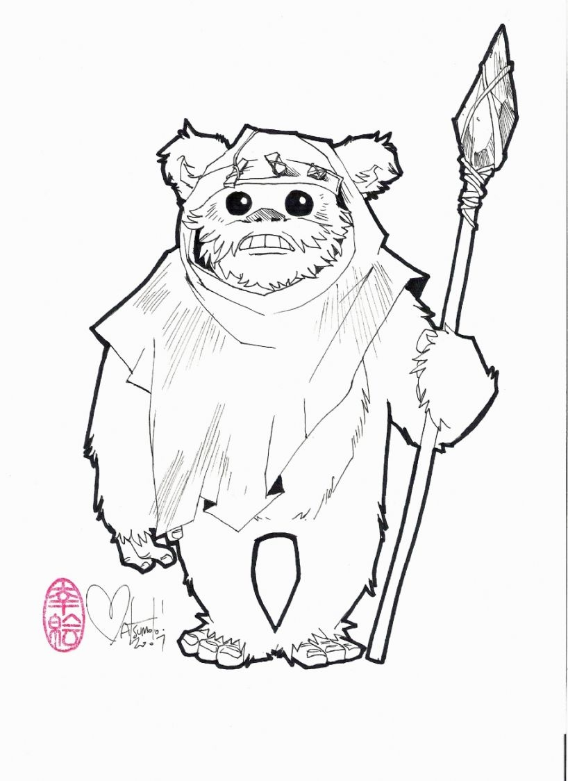 818x1124 Excellent Ewok Coloring Page Remodel With Ewok Coloring Page