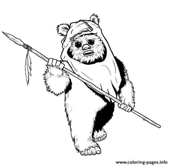 600x578 Print Star Wars Ewok Coloring Pages Mixed Stuff