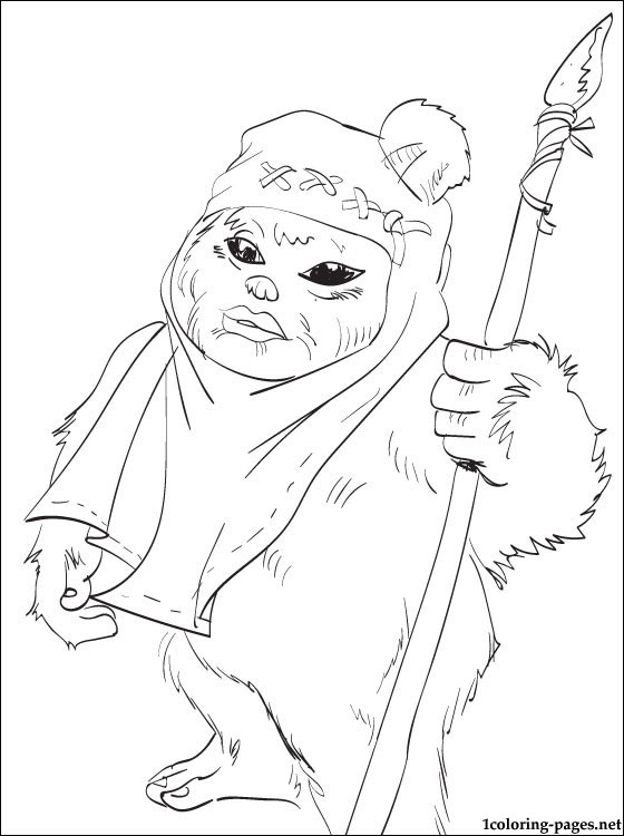 560x750 Star Wars Ewok Coloring Page Coloring Pages