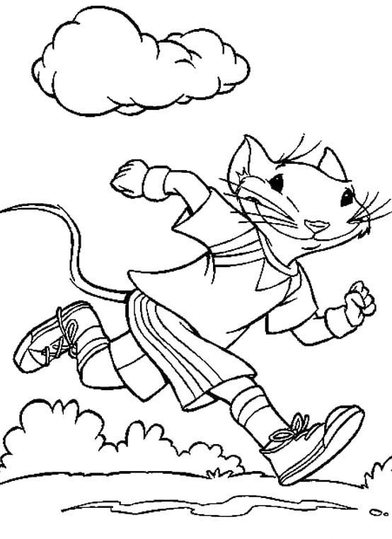 554x761 Exercise Coloring Pages For Kids