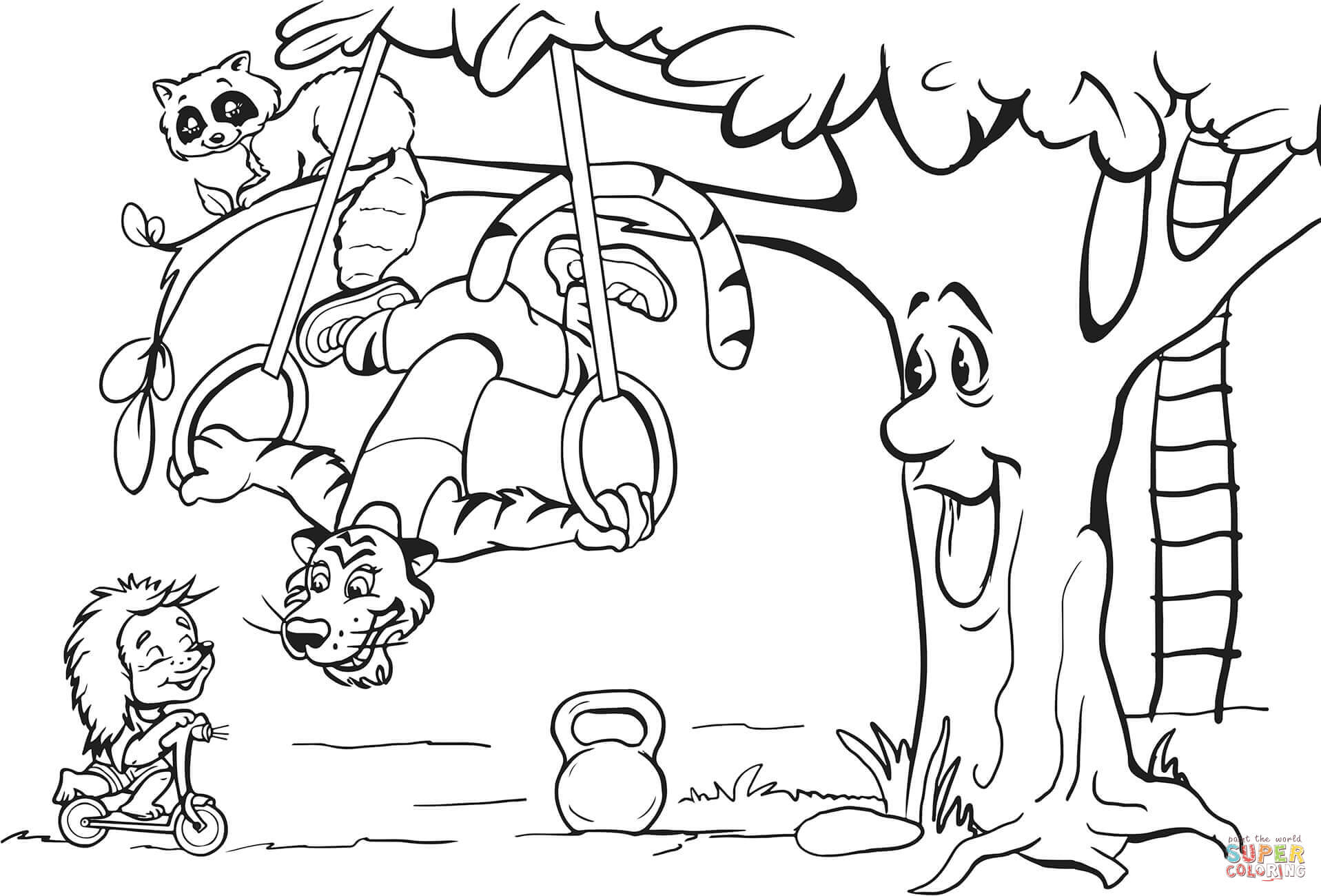 1917x1300 Exercise Coloring Pages For Preschoolers Best Of Tiger Is Doing