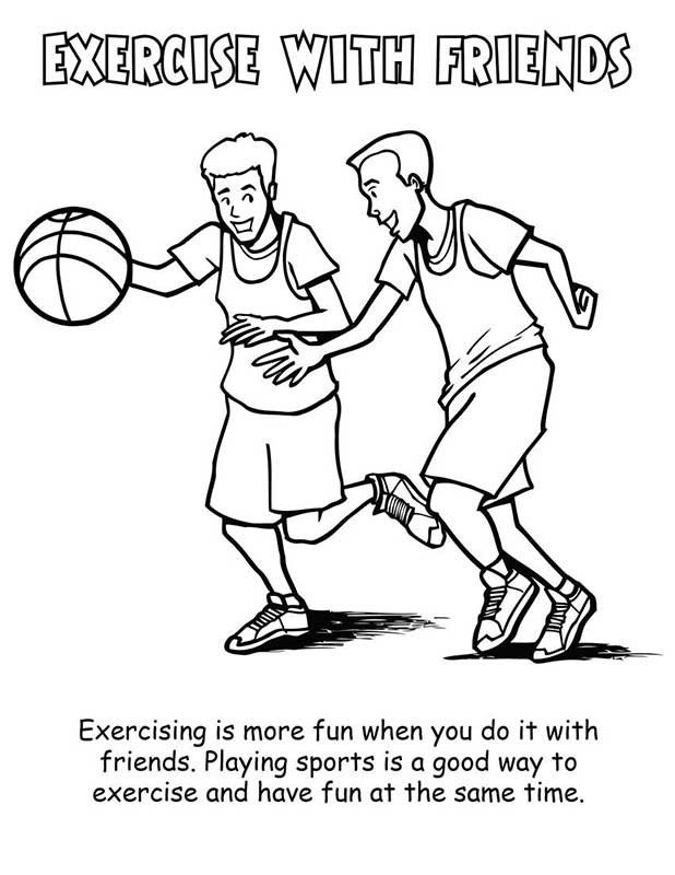 618x800 Exercise Coloring Pages Printable Freeside Fitness Plan