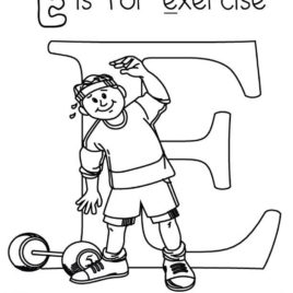 268x268 Exercise For Arms Coloring Page Free Printable Coloring Pages