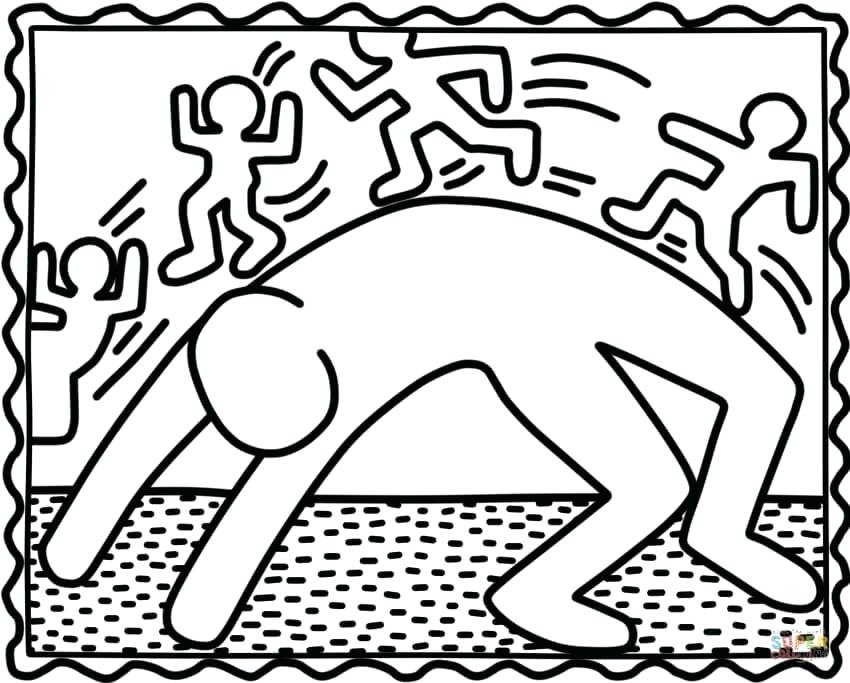 850x683 Keith Haring Coloring Pages Bridge Exercise