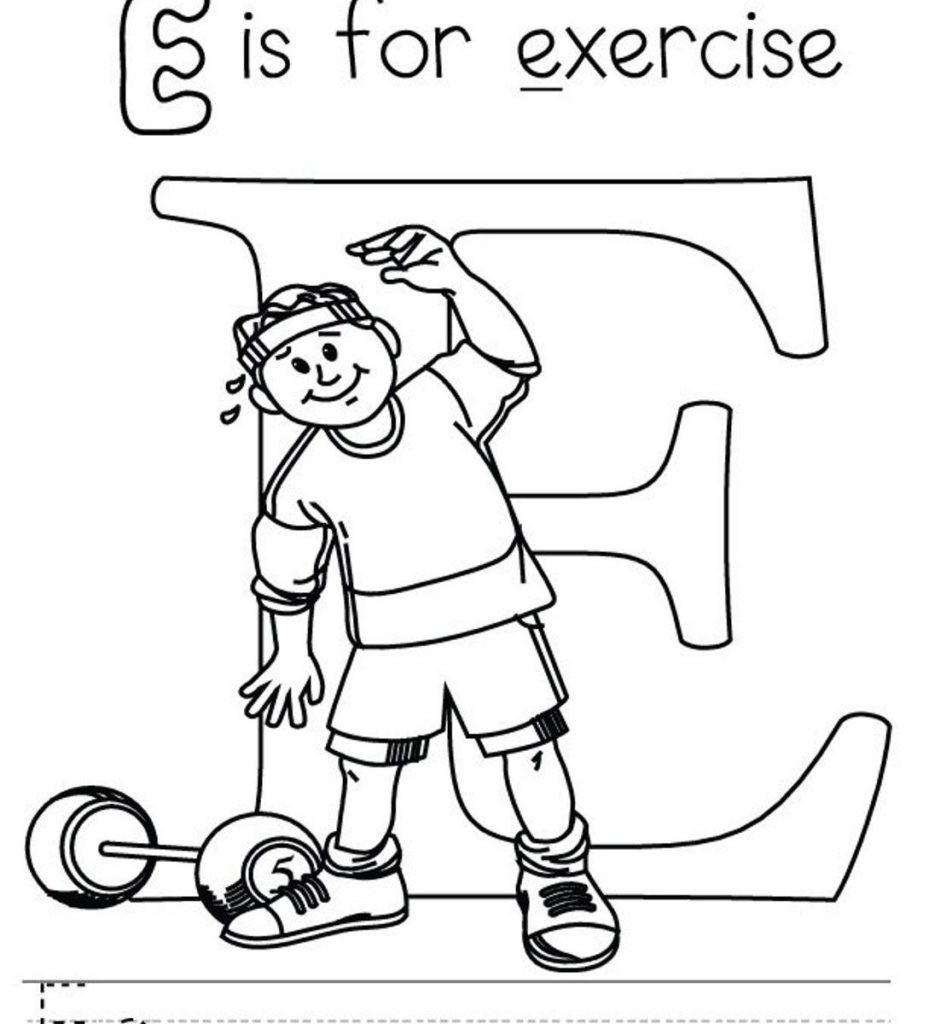 929x1024 Exercise Coloring Pages Exercising