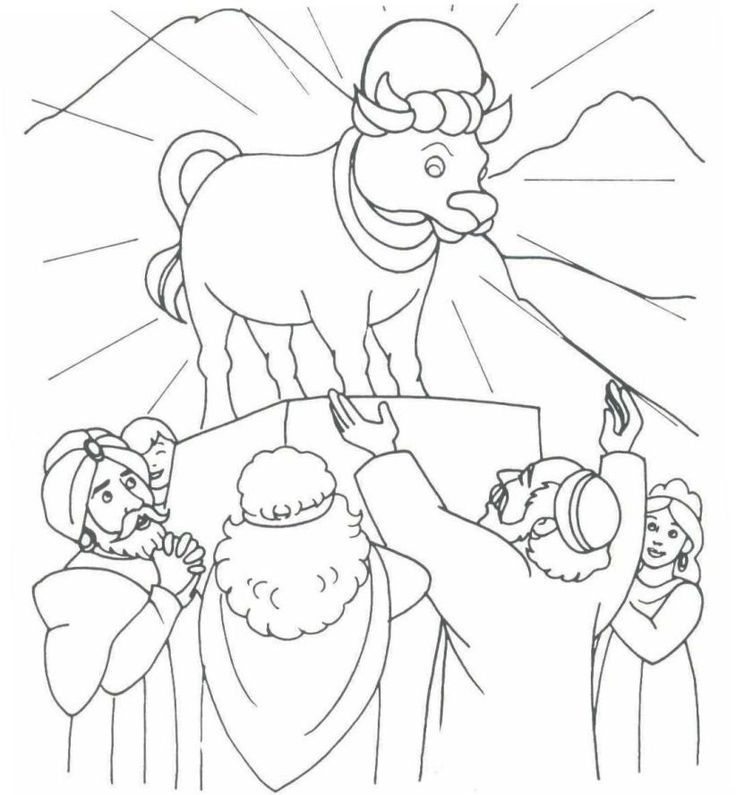 736x795 Aaron And The Golden Calf Coloring Page The Golden Calf Exodus