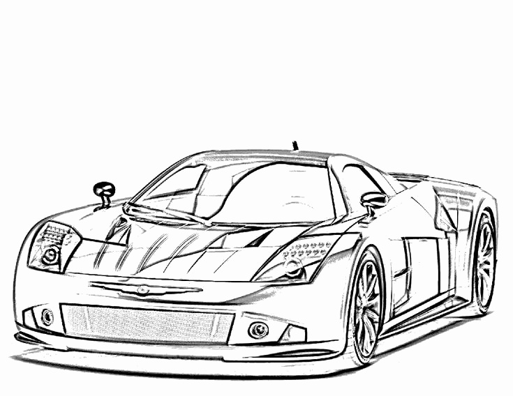 Exotic Car Coloring Pages