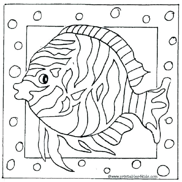 600x600 Tropical Coloring Pages Tropical Fish Coloring Page Printable