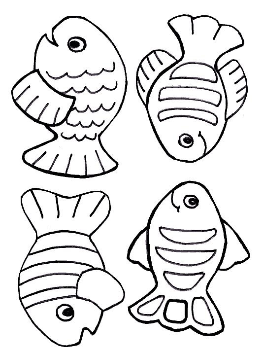 534x712 Fish Coloring Pages For Preschoolers