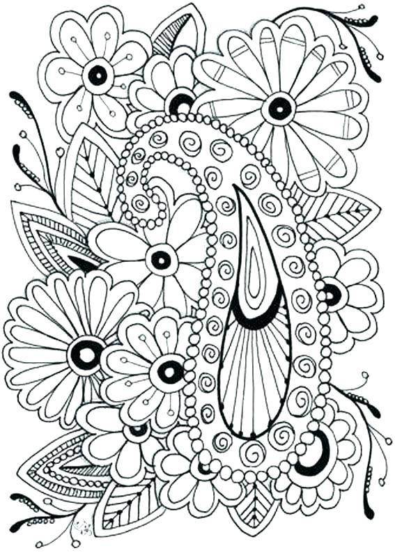 567x794 Flower Coloring Pages Printables Synthesissite Flower Coloring