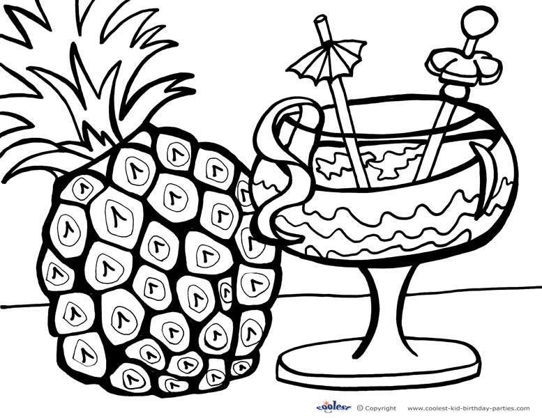777x600 Hawaiian Flower Coloring Pages