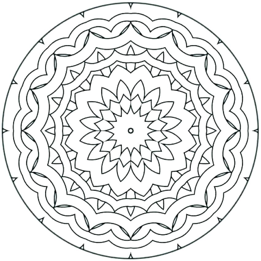 850x850 Expert Mandala Coloring Pages