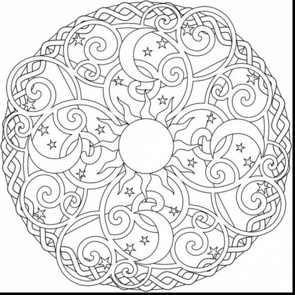 1184x1184 Mandala Coloring Pages Expert Level