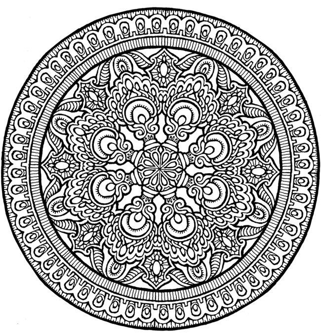650x673 Mandala Coloring Pages Expert Level Beautiful Between The Lines