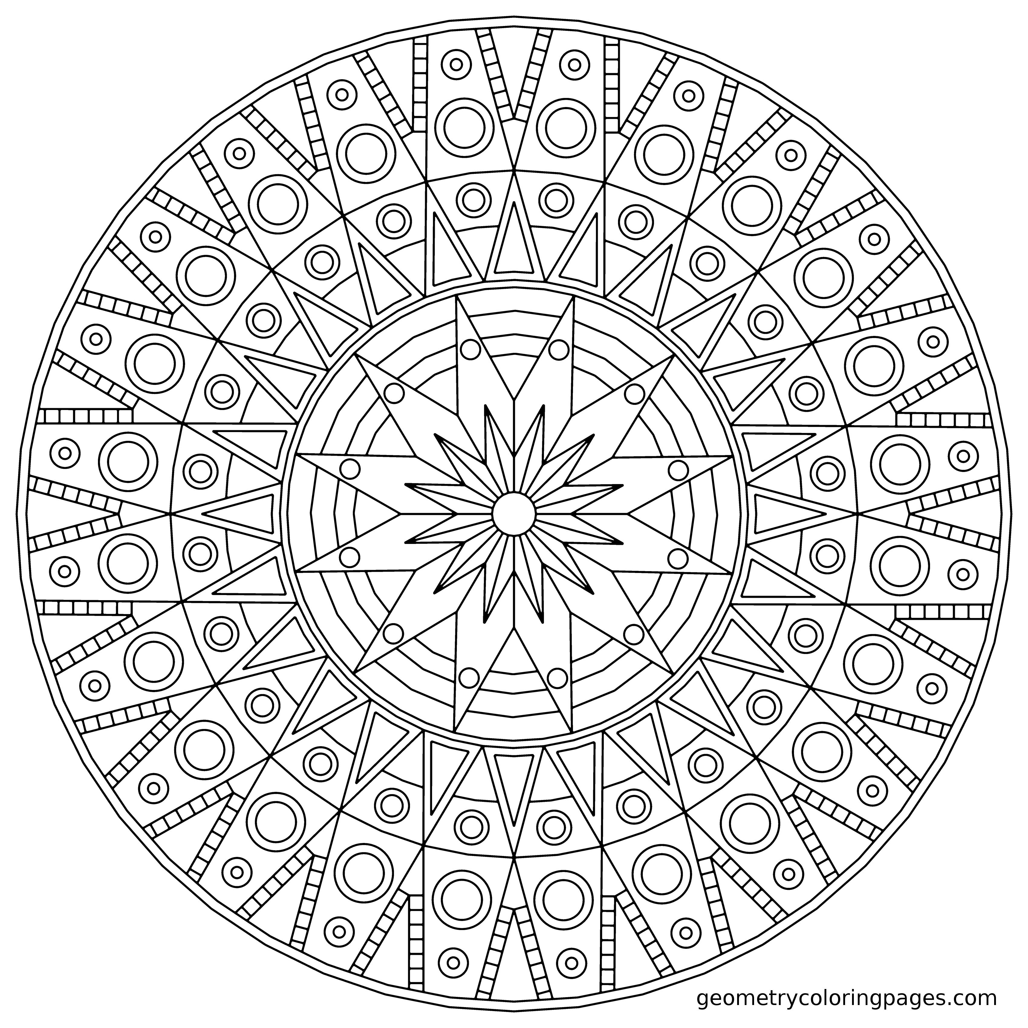 3400x3400 Mandala Coloring Pages Free Showy Expert Level Learnfree Gallery