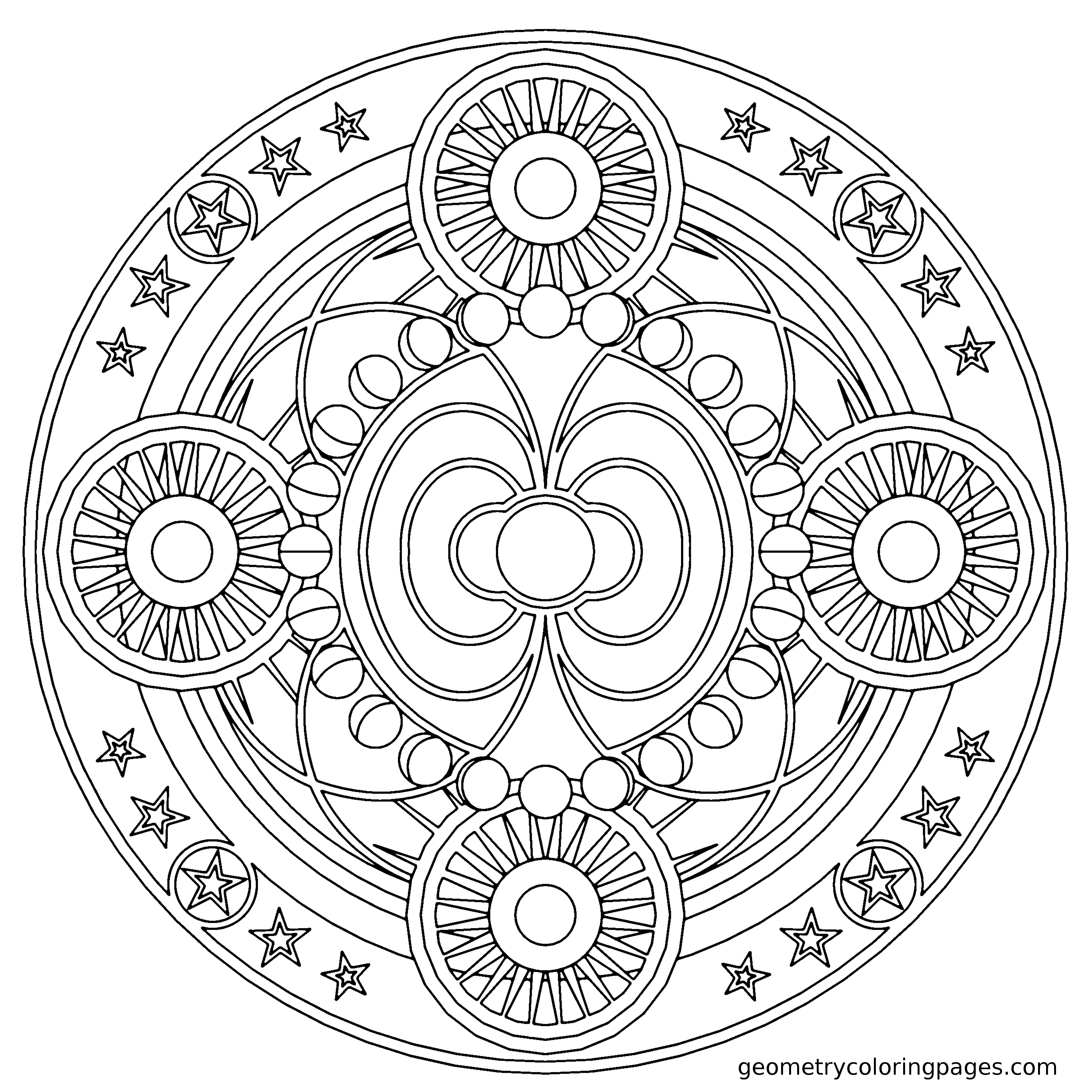 3400x3400 New Coloring Flower Mandala Coloring Page Expert Level Book Free