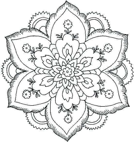 553x587 Mandala Coloring Pages Printable Murs