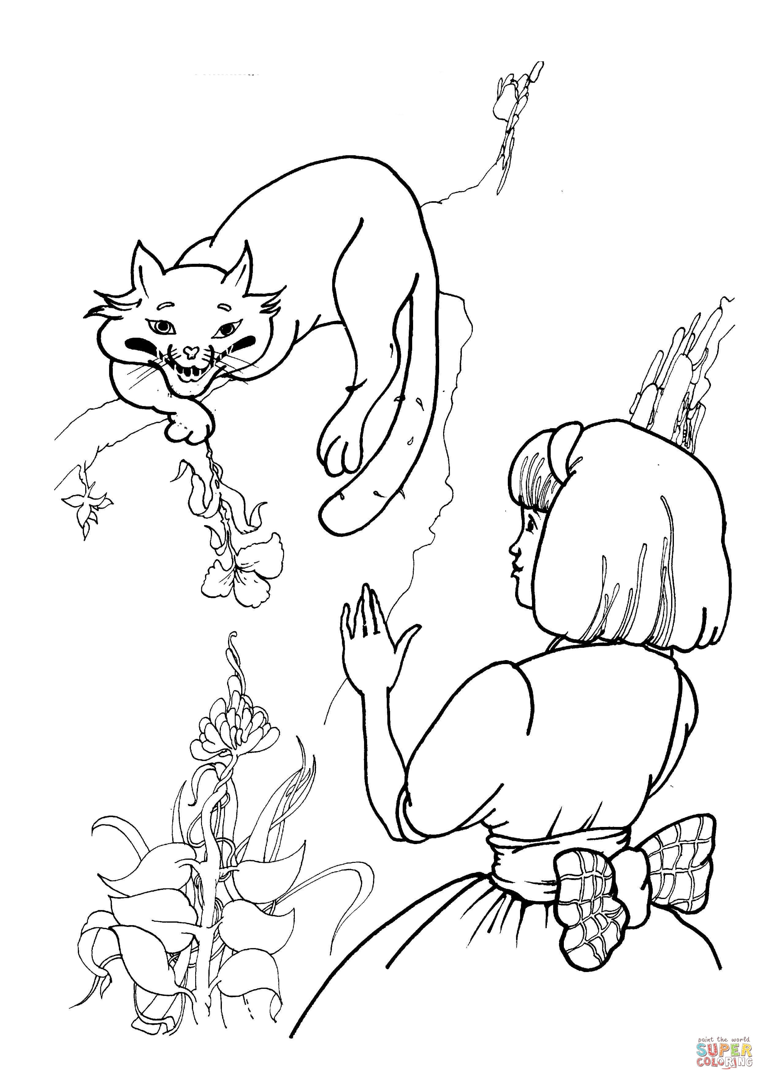 2480x3508 Expert Cheshire Cat Coloring Page With Alice Free Printable Pages