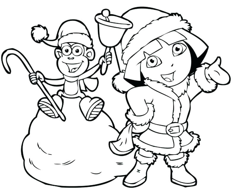 802x641 Dora Explorer Coloring Pages And Boots The Explorer Coloring Page
