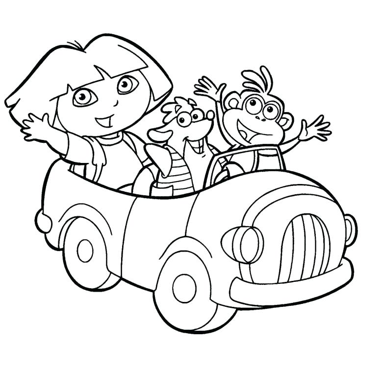 777x750 Dora Free Coloring Pages Wonderful The Explorer Coloring Pages