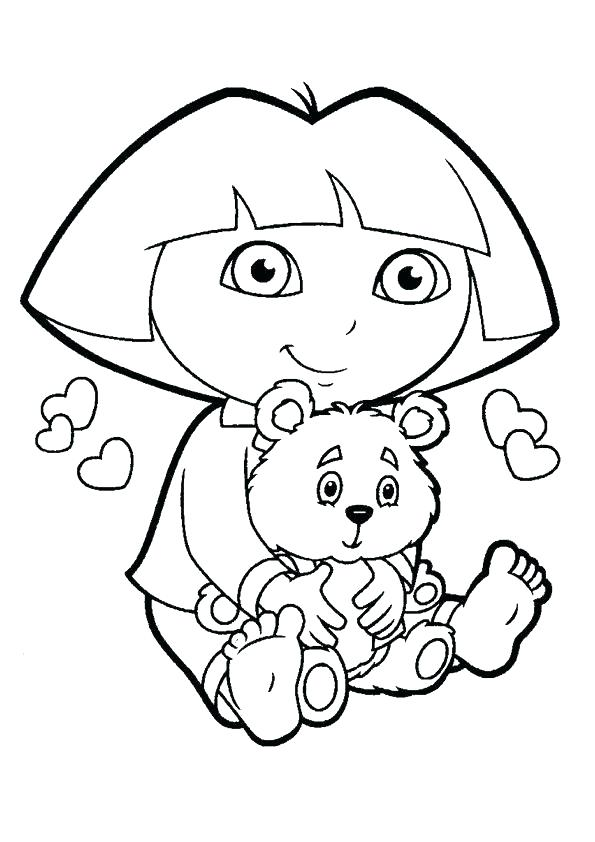 595x842 Dora The Explorer Color Dora The Explorer Coloring Pages Cartoon