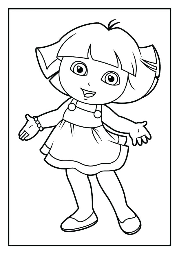 618x874 Dora Explorer Coloring Book And Boots Coloring Pages