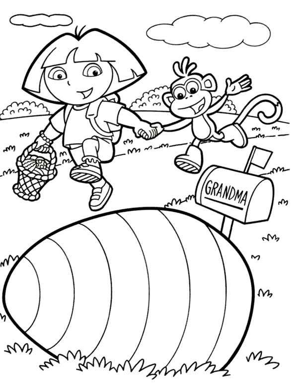 600x775 Best Dora The Explorers Coloring Pages Images