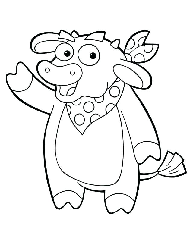 640x750 Dora The Explorer Coloring Pages Free Printable Coloring Explorer