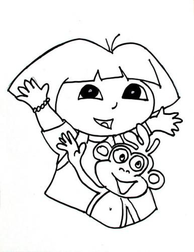 386x500 Dora The Explorer Coloring Pages