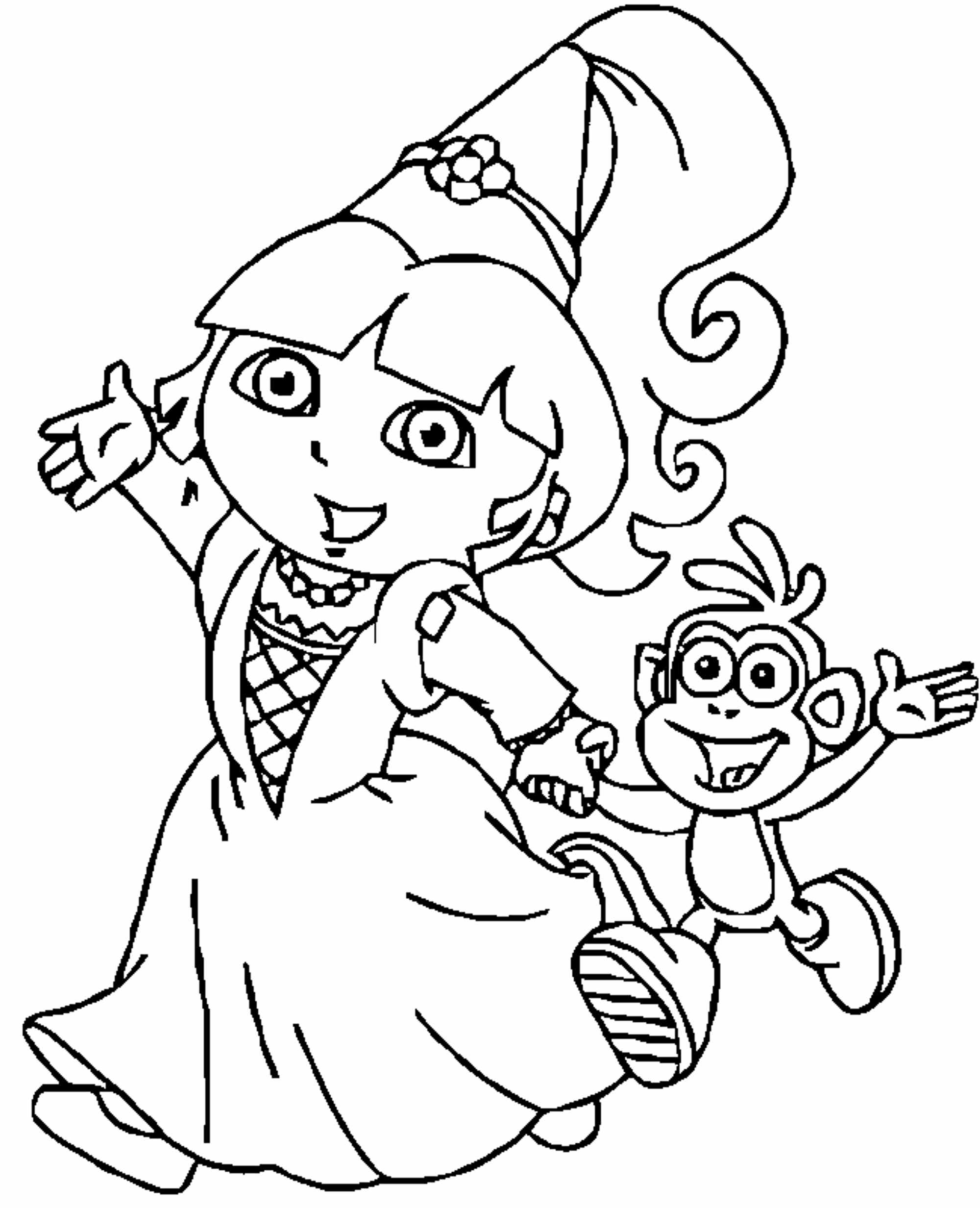 2000x2465 Dora The Explorer Coloring Pages Coloring Pages Funny Coloring