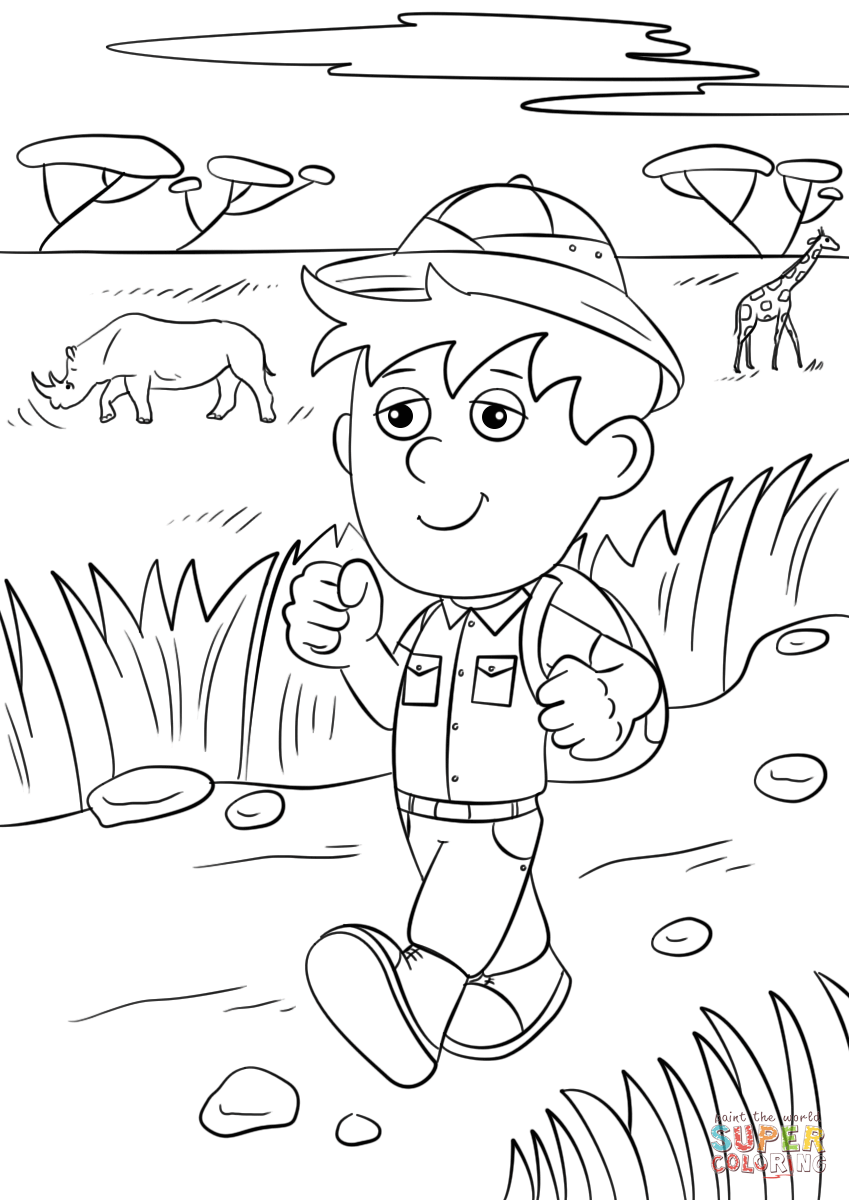 849x1200 Winning Safari Coloring Pages Printable Photos Of Amusing Safari