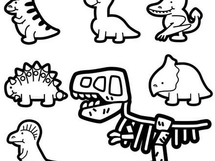 440x330 Prehistoric Animals Coloring Coloring Pages, Extinct Animals