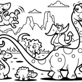 268x268 Step Extinct Animals Printable Dinosaur Coloring Pages For Kids