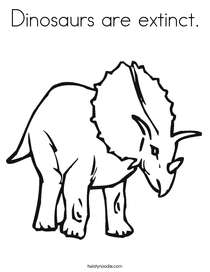685x886 Dinosaurs Are Extinct Coloring Page