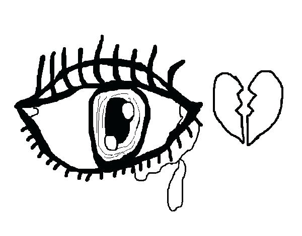 600x470 Eyes Coloring Pages Crying Sad Eyes Coloring Page Dogs With Big