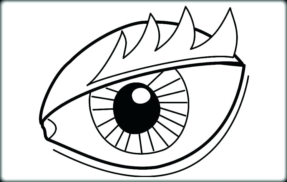 975x620 Fascinating Owl Coloring Pages For Kids Eyeball Coloring Page