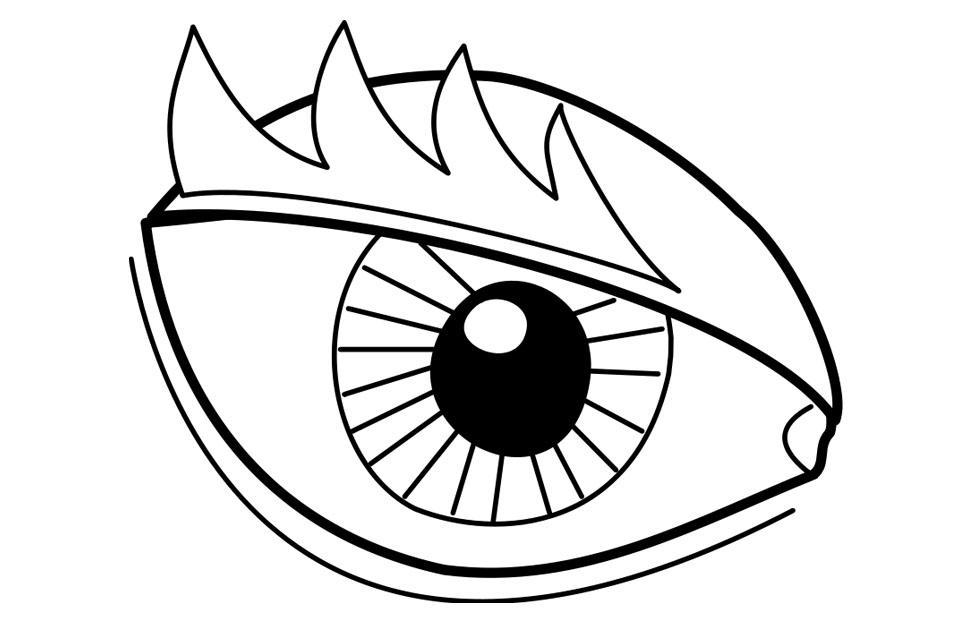 975x620 Coloring Page Eye