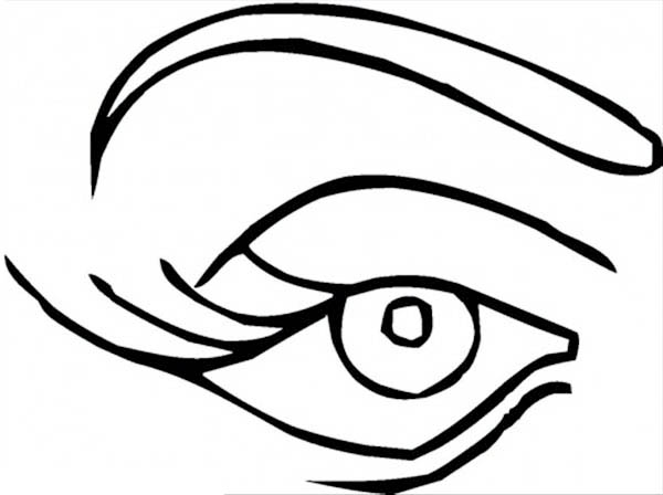 600x448 Eye Coloring Pages Kids Women Eye Preschool Coloring Pages